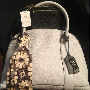 Coach Preston Bleecker Charcoal+scarf+wallet 3 SET